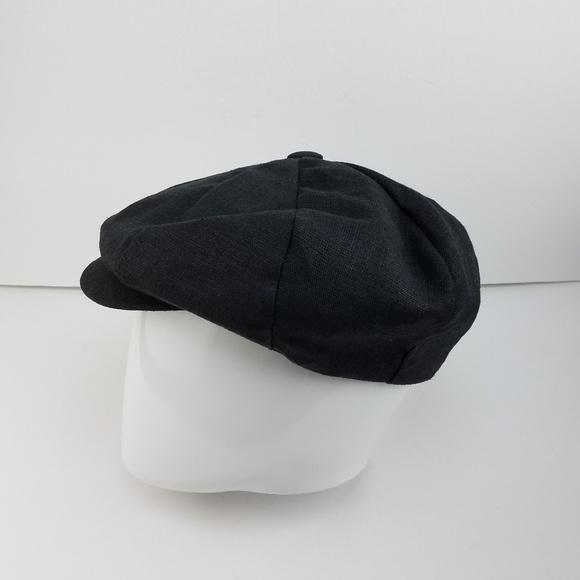 5d0b4862 capas Accessories | Black Linen Big Apple Cap Medium Gently Used ...